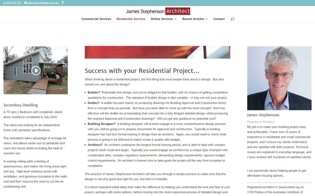 Case Study: James Stephenson Architect
