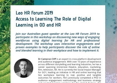 Flyer - Lao HR Forum - Cameron Cliff