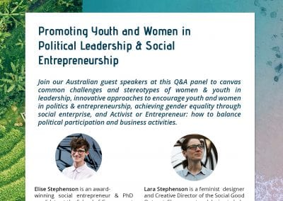 Flyer - Politikoffee - Youth entrepreneurs and leaders speaker series