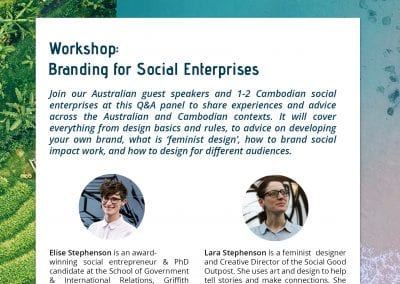 Flyer - Workshop 2 SHE investments and Impact Hub - Youth entrepreneurs and leaders speaker series